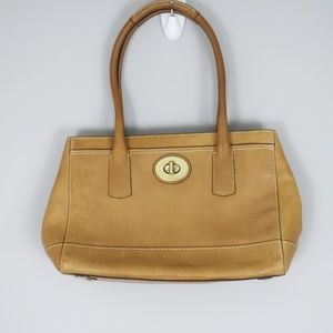 "Coach ""Madeline"" Tan Satchel Bag E0826-12482"